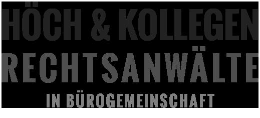 Logo HÖCH & KOLLEGEN Rechtsanwälte in Bürogemeinschaft